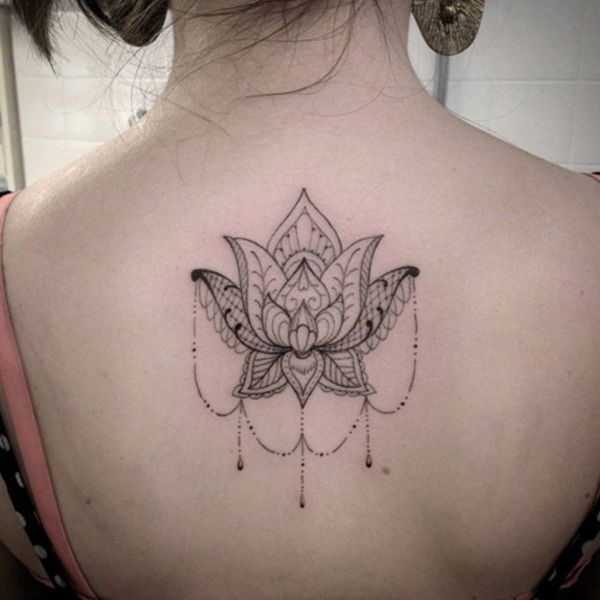 90 Immensely Deep And Positive Lotus Mandala Tattoos To Express Your Spiritual Side Back Tattoo Women Tattoos For Women Back Tattoos
