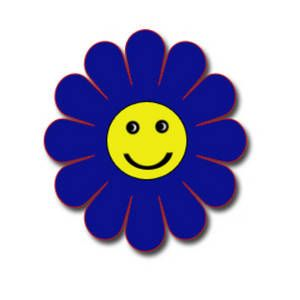 free clipart picture of a blue flower with a smiley face rh pinterest com Sunshine Smiley Face Clip Art Sad Smiley Face Clip Art