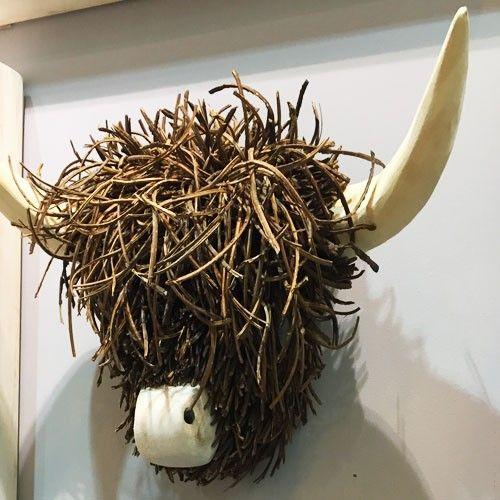 Animal Head Highland Cow Wall Mounted Cabezas