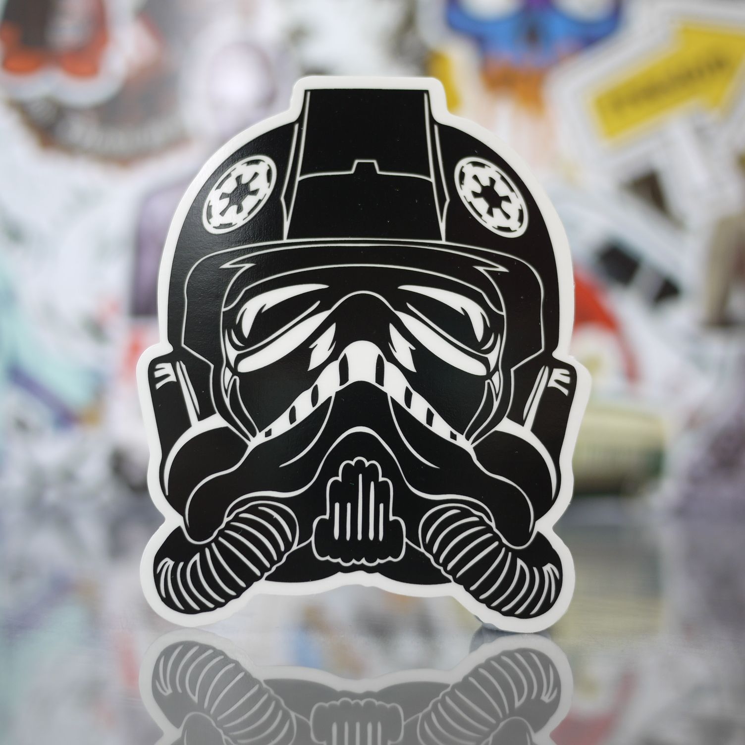 Star wars tie fighter pilot helmet sticker