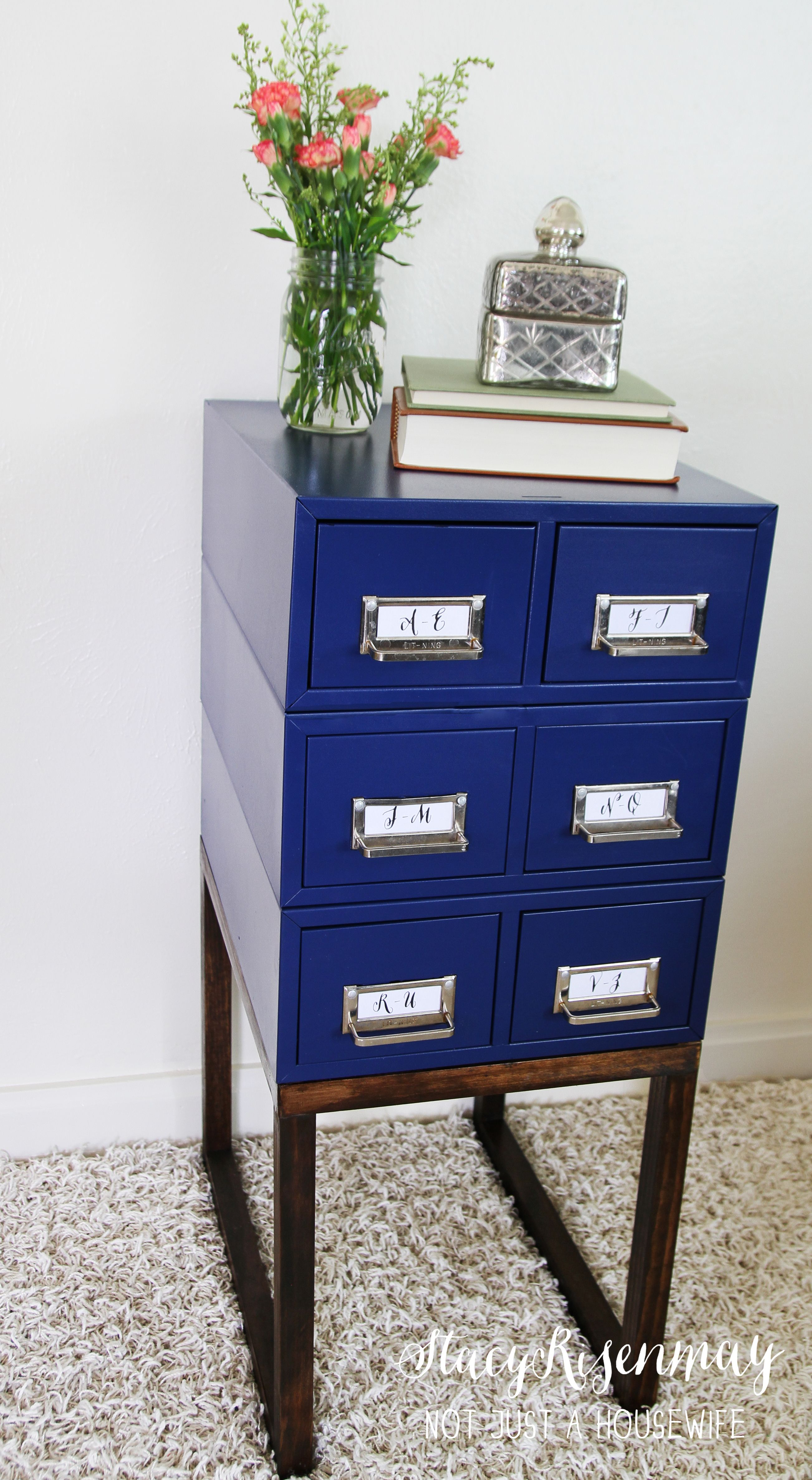 Card Catalog Side Table The Before Of This Gorgeous Piece Gave No Indication What Was To Come Click Through See More Photos And