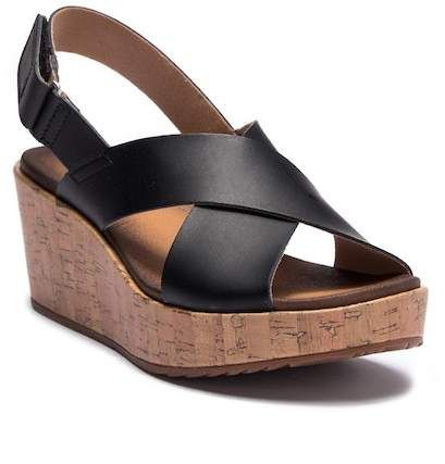 4aa60c821a53 Stasha Hale Leather Wedge Sandal - Wide Width Available