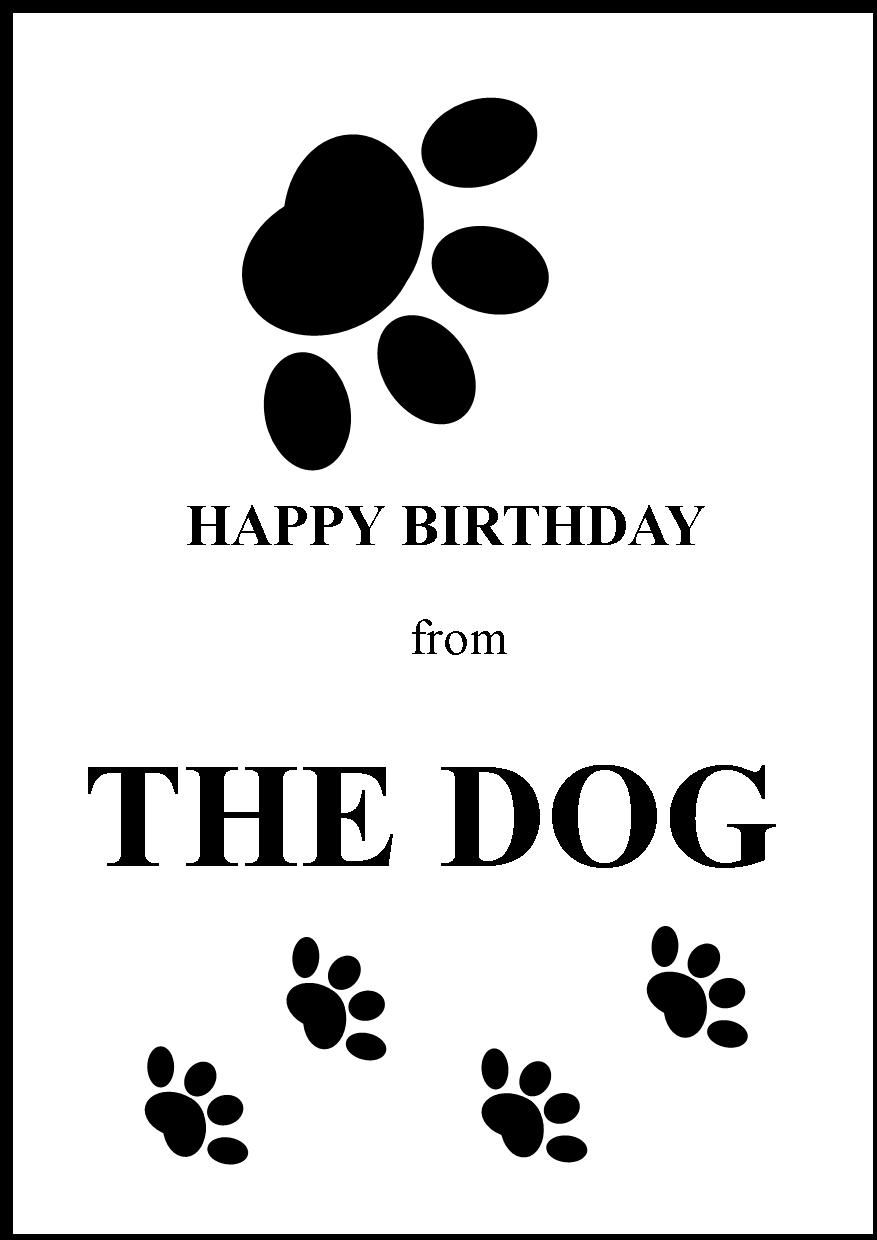 Happy Birthday Cards From Your Dog  Happy Birthday Greeting Card