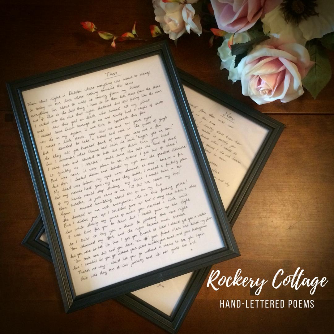 Hand Lettered Poem Rockerycottagesy