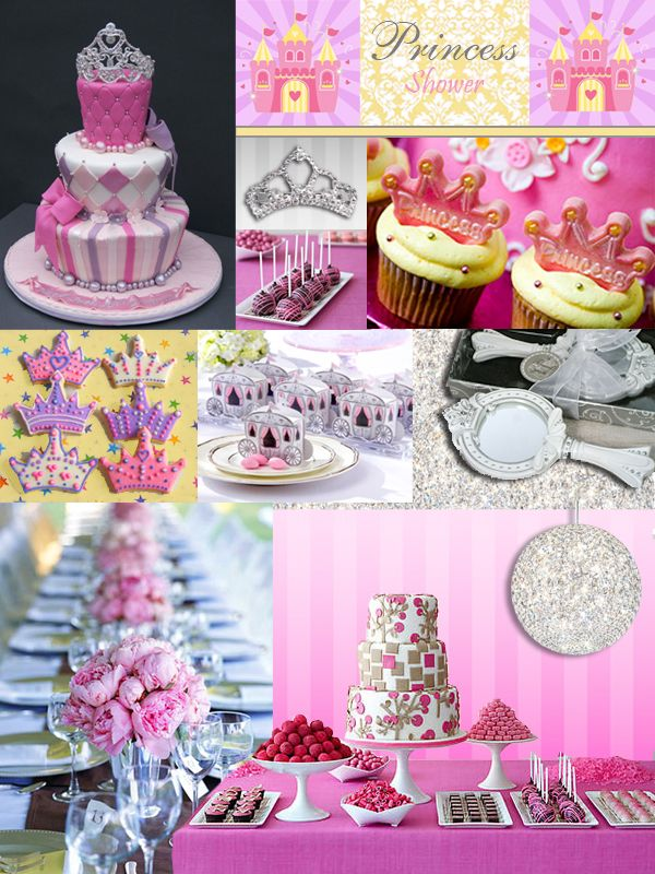 Princess Shower Party Inspiration Board Storkie Blog Princess Baby