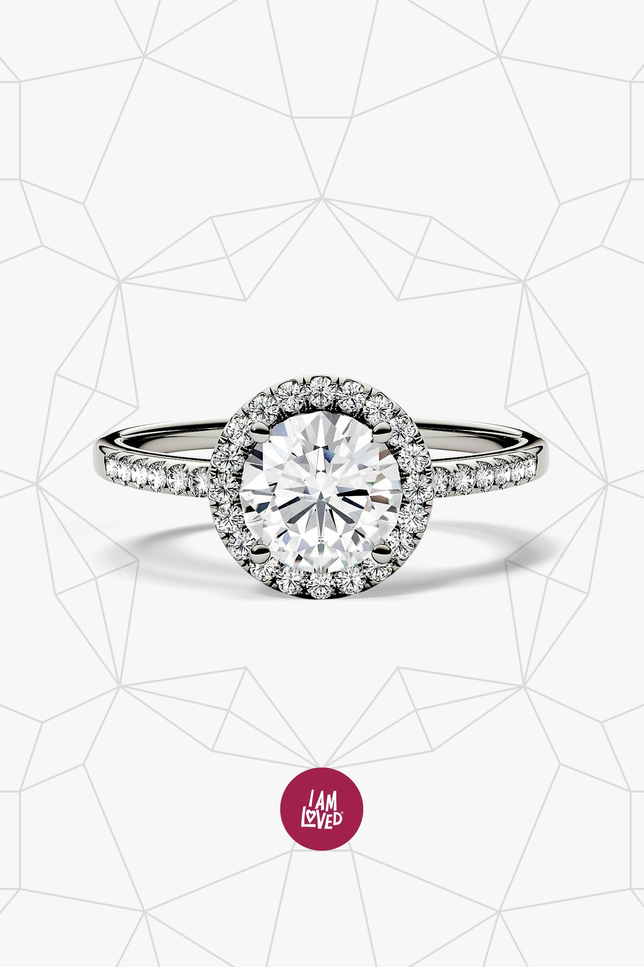 Forever one ct tw moissanite ring in k white gold in