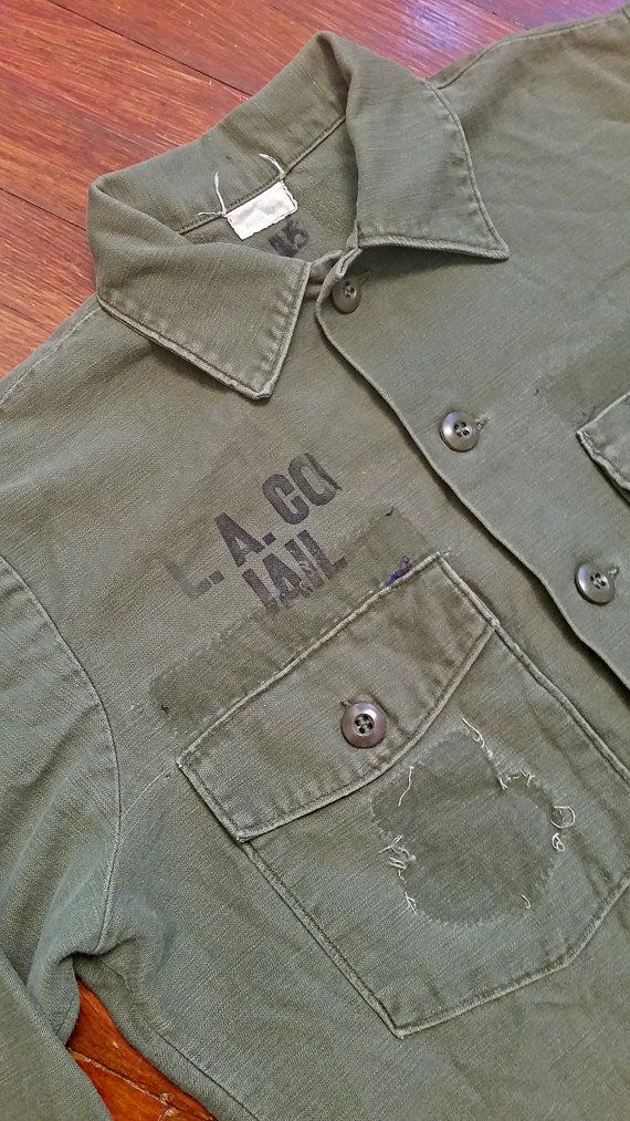 Vintage Vietnam Era Recycled Military La County Jail Shirt Us