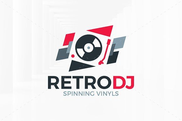 Retro Dj Logo Template Dj Logo Logo Templates Logos