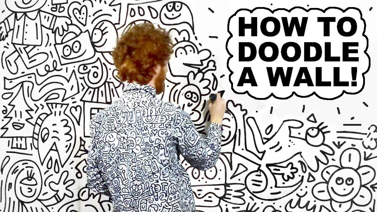 How to doodle a wall doodle art designs tumblr art