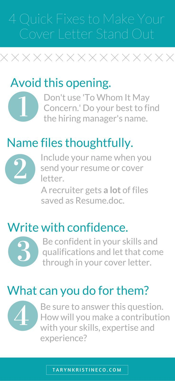 Four Quick Fixes To Make Your Cover Letter Stand Out  Resume Examples