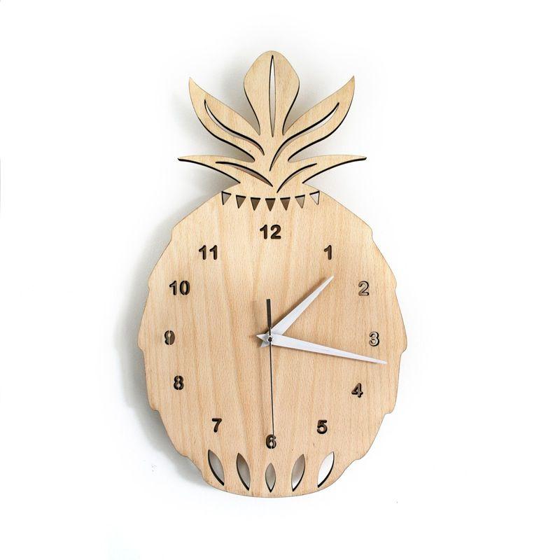 Image of nouveau horloge ananas en bois deco salle for Petit objet deco