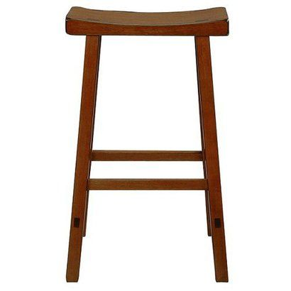 24 Saddle Seat Counter Stool Rustic Oak International Concepts Wood Bar Stools Bar Stools Saddle Seat Bar Stool