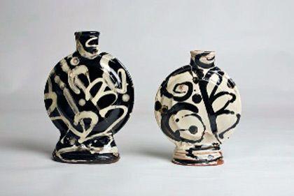 Ceramics by Dylan Bowen at Studiopottery.co.uk - 2 Bottles 28 - 32cm, 2008.