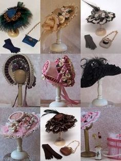 tutorial for miniature hats, but the basic patterns and construction probably hold true at full scale. Gorgeous anyhow. #dollhats
