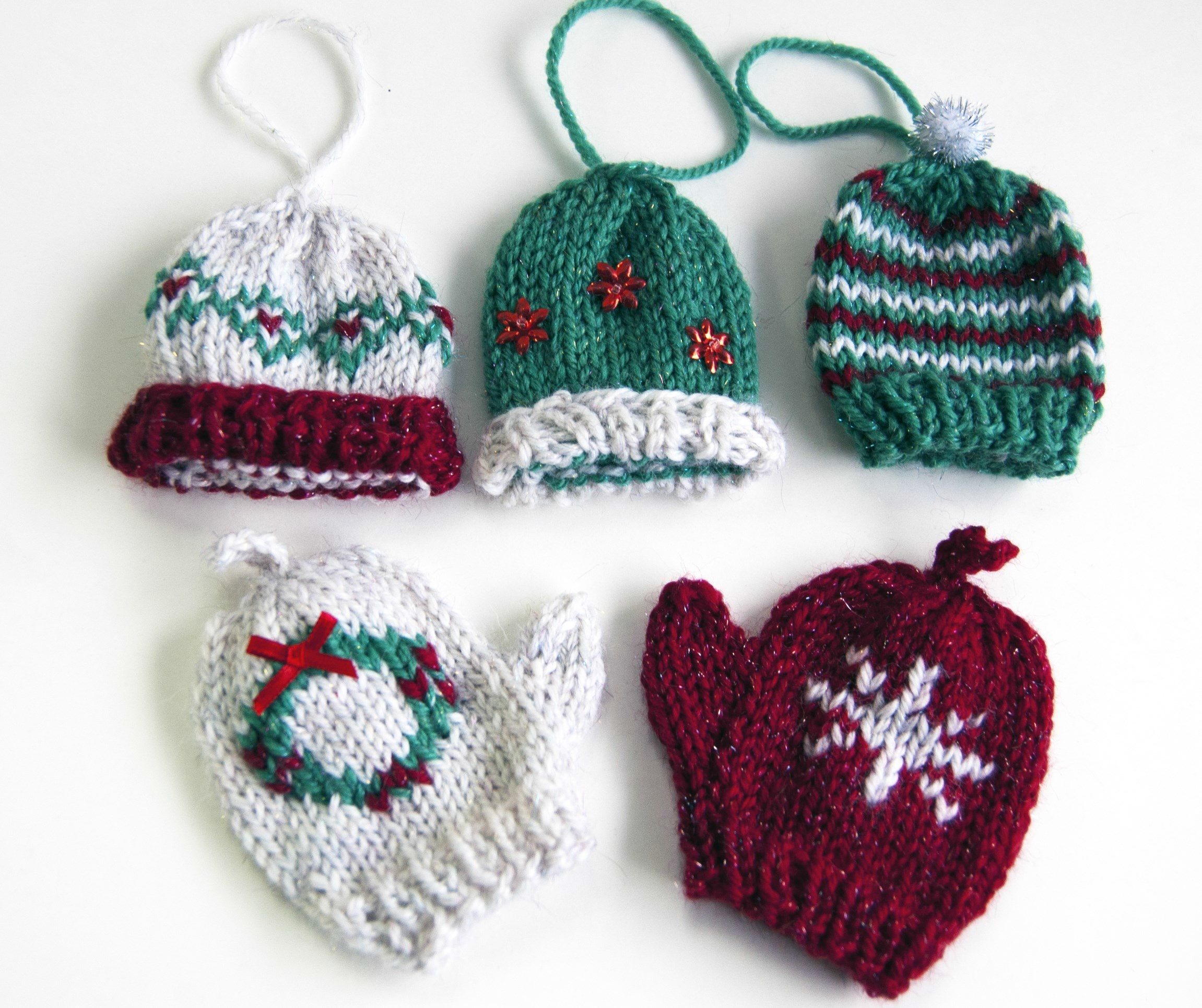 Knitting pattern for mini mittens and gloves knitting and free knitting pattern for mini mittens and gloves knit christmas ornamentschristmas bankloansurffo Choice Image