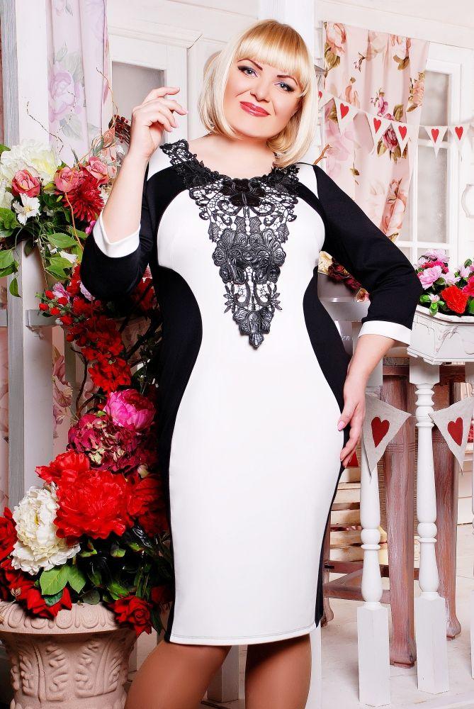Платье Джулия черный+белый в интернет-магазине ...