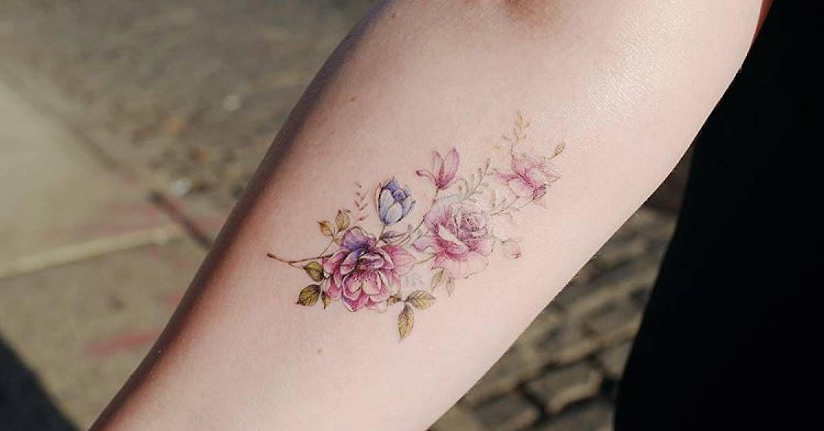 Artista Tatuador Banul Tags Categorias Ilustrativo Naturaleza Flores Ramos De Flores Partes Del C Tatuaje De Ramo De Flores Tatuaje Ojo Tatuaje De Ramo