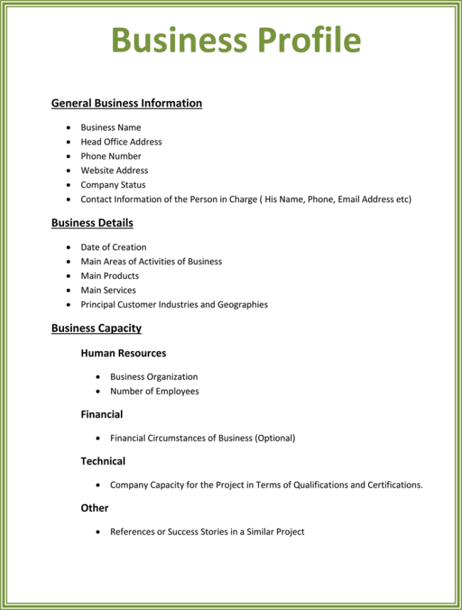 8 business profile templates word excel pdf templates