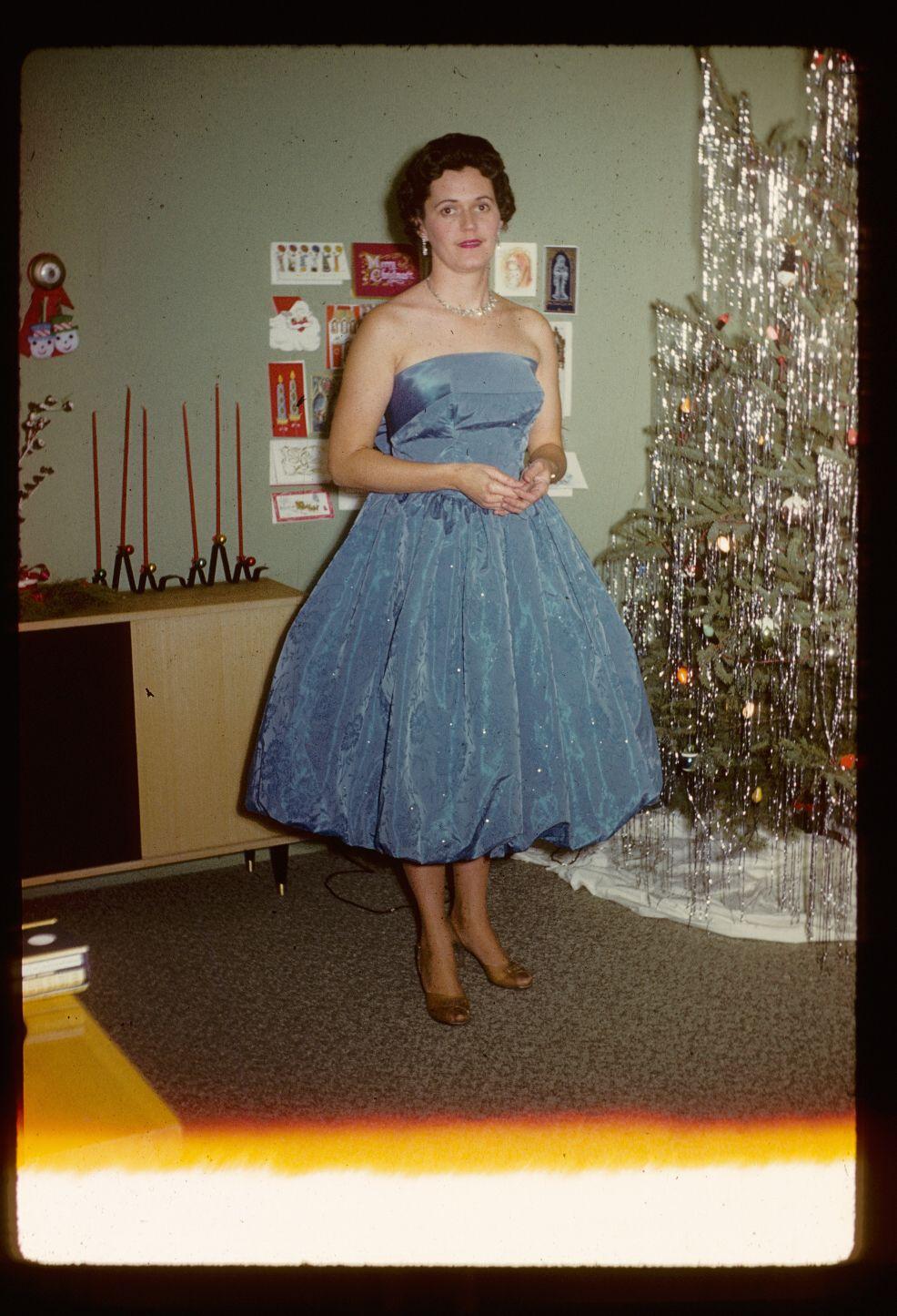 Mid-Century Women Enjoying Real Christmas Trees - Flashbak
