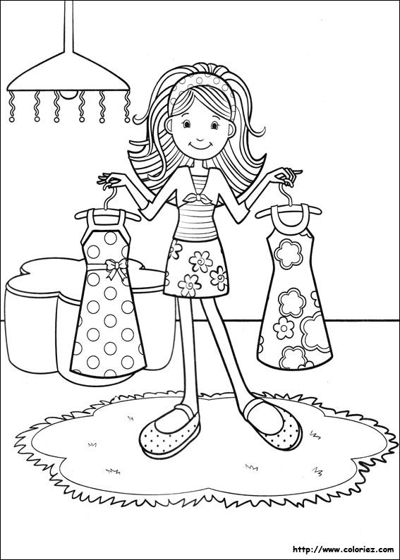 Dress Up Coloring Pages Groovy Girls Dressing up Coloring books Coloring pages