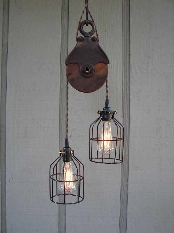 Pulley chandelier kitchens pinterest me gustas pulley chandelier aloadofball Images