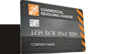 Commercial Revolving Card Home depot credit, Home depot