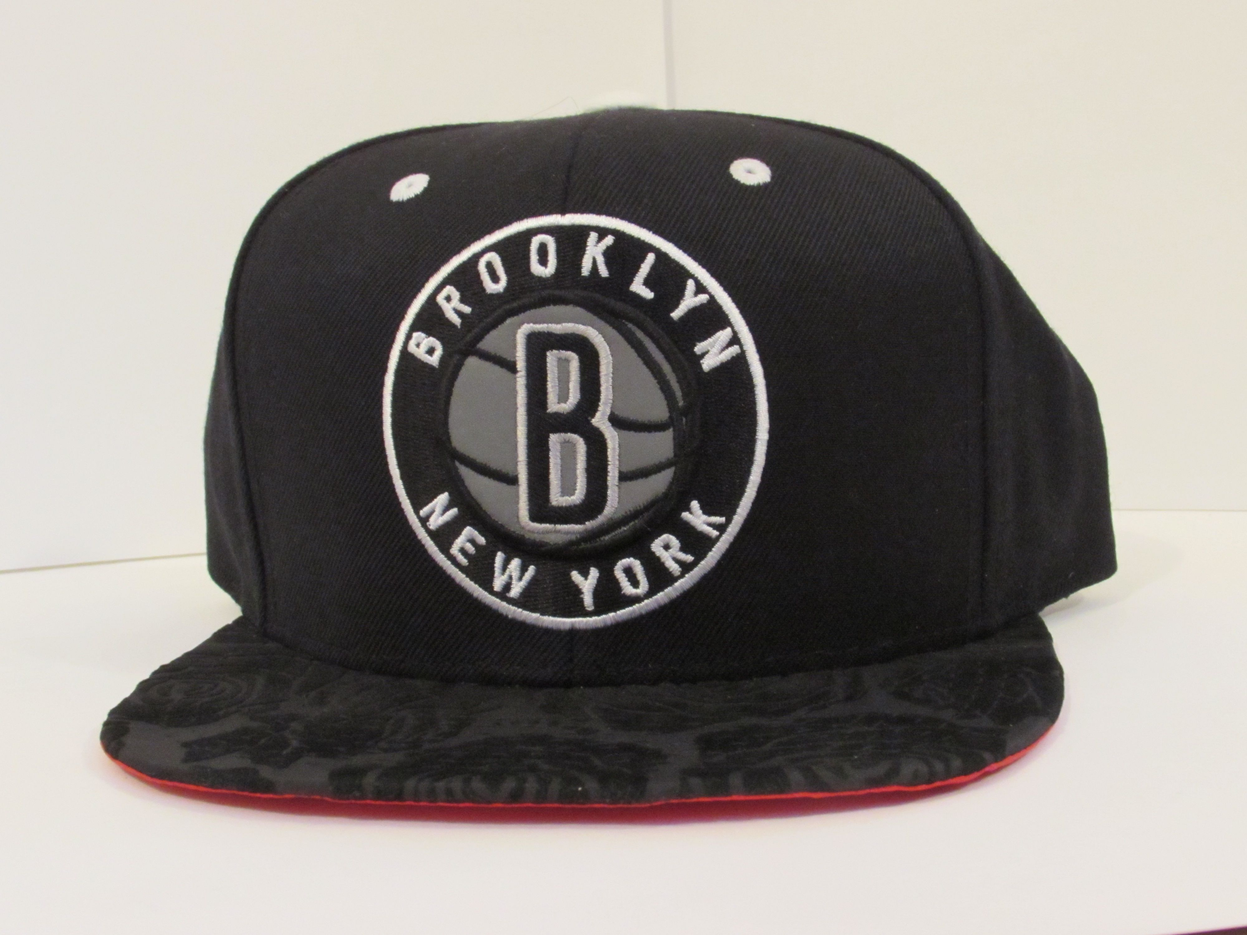 buy online 4210e c6ad9 ... switzerland authentic mitchell ness brooklyn nets 3m snapback with  xclusivesnaps brim and red underbrim xclusivesnaps mitchellness