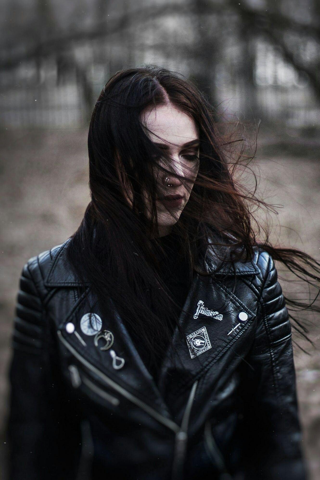 Pin by Katrin666 on Metalhead Girl | Black metal girl