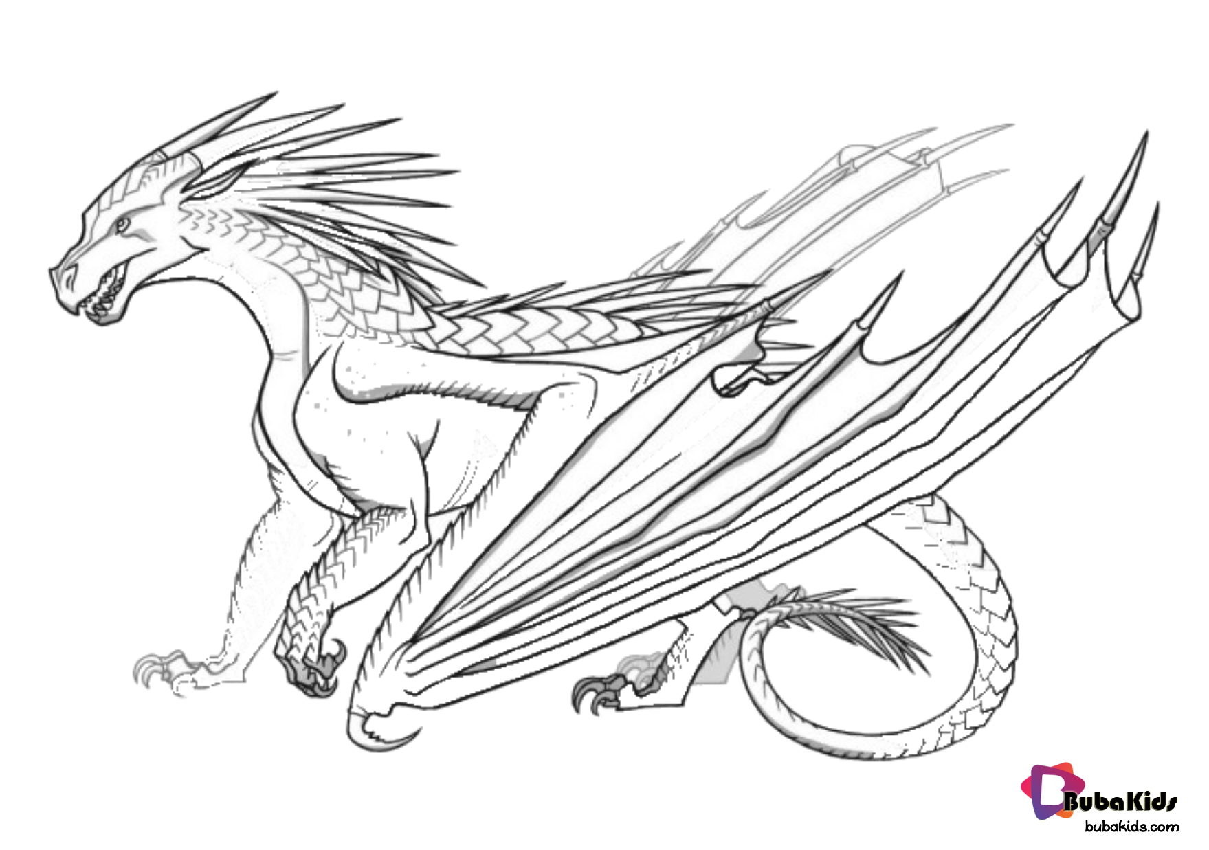 Free Download Dragon Legendary Creatures Coloring Page Collection Of Cartoon Coloring Pages For Teenage Printa In 2020 Wings Of Fire Wings Of Fire Dragons Fire Dragon