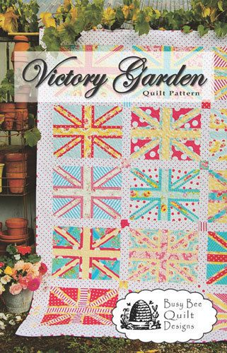 Victory Garden Union Jack Quilt Pattern Busy by PinkDoorFabrics ...