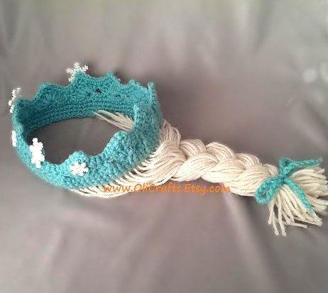 Items similar to Frozen Elsa Princess Crown / Tiara Hair Wig on Etsy