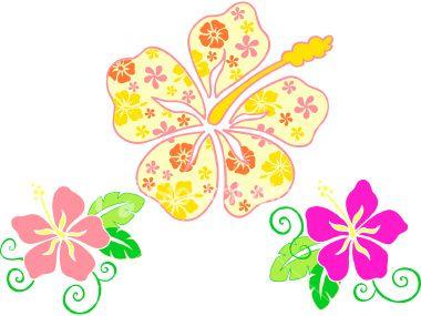 Tropical Hibiscus Flower Vector Illustration Hibiscus Flowers Hibiscus Flower Clipart