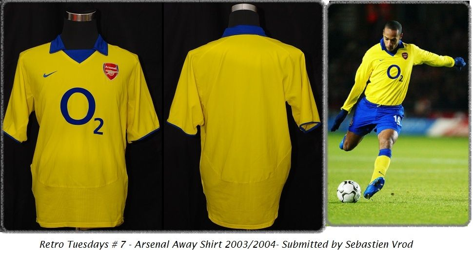 b479de253bb Arsenal Away Shirt 2003 04