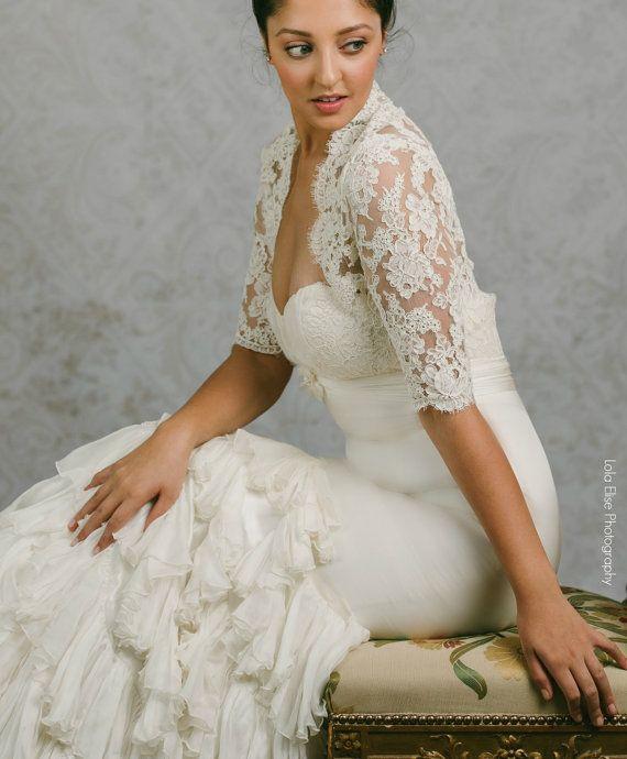 Plus Size Lace Wedding Bolero - Plus Size Bolero - Lace Wedding ...