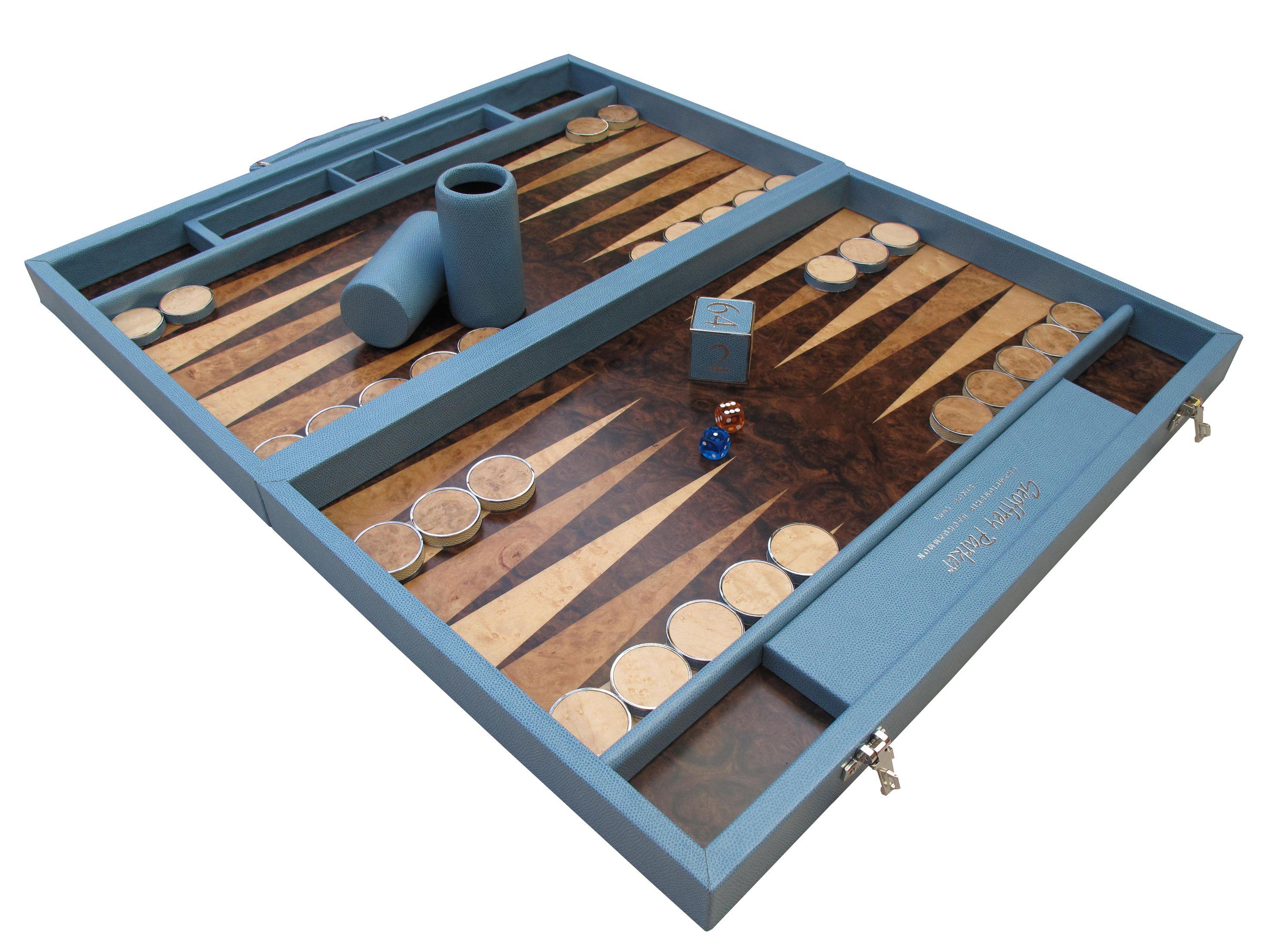 Sky Blue and Mediterranean Floor Backgammon #Gift #Game #Luxury #Backgammon #Contemporary