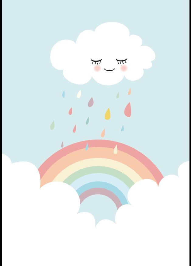 Kunstdruck Bild Regenbogen Kawaii WallpaperWallpaper