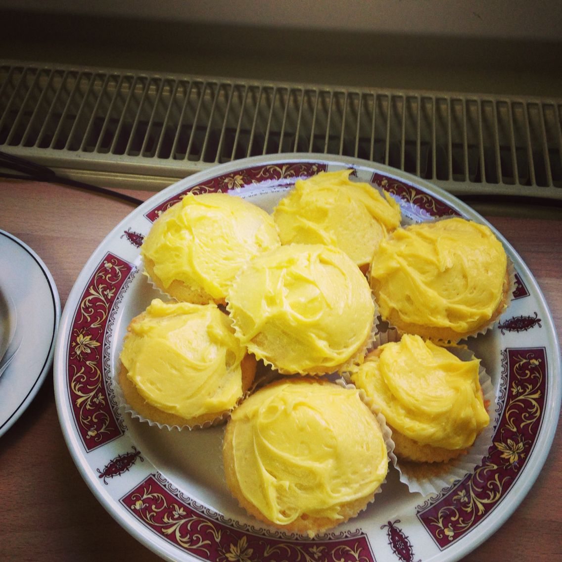 My lemon cupcakes. Presentation is not my strong point but these looked quite good!