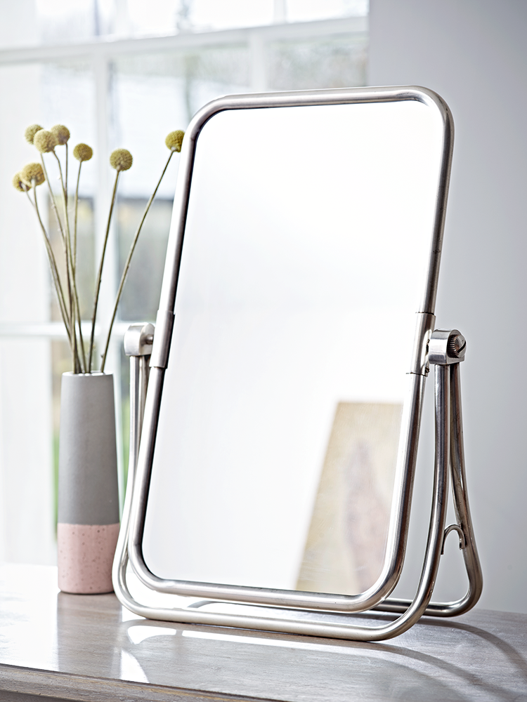 Inspired By Our Bestselling French Folding Mirror, Our Feminine And  French Style Table Top Mirror Features A Delicate Edge And Matching Stand.