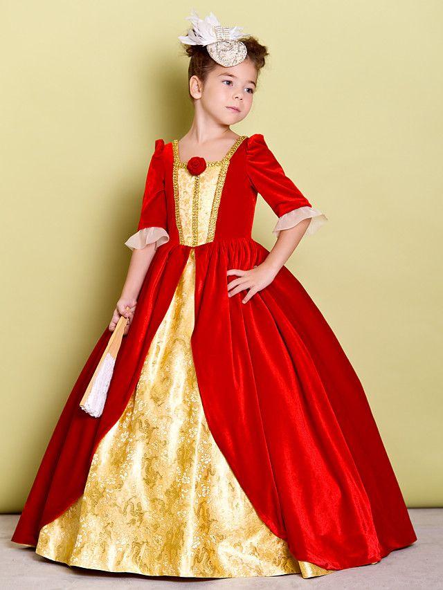 2186f0b0cb3 A-line Floor-length Flower Girl Dress - Velvet Half Sleeve - AUD  114.39