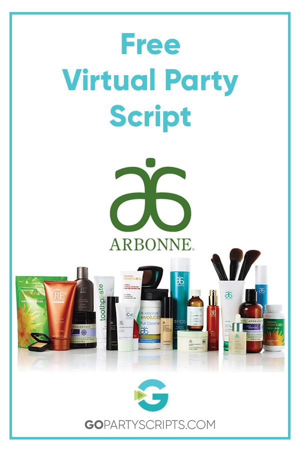 Free Arbonne Virtual S Party Script