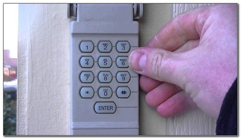 How To Program Outside Garage Door Opener Garage Door Keypad Liftmaster Garage Door Garage Doors