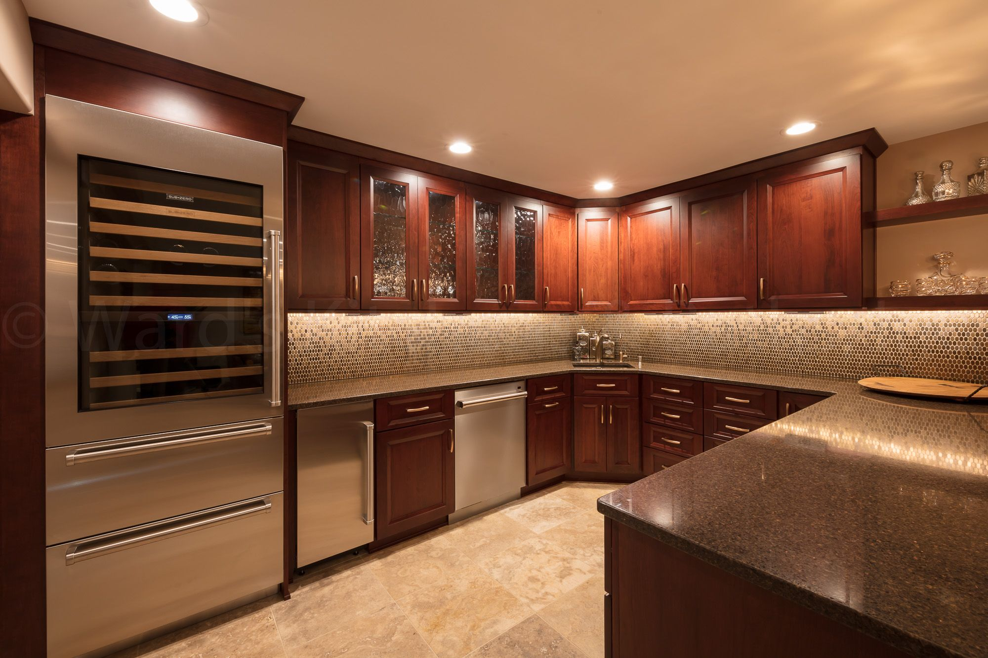 - Basement Kitchen And Living Area Renovation. Features Include