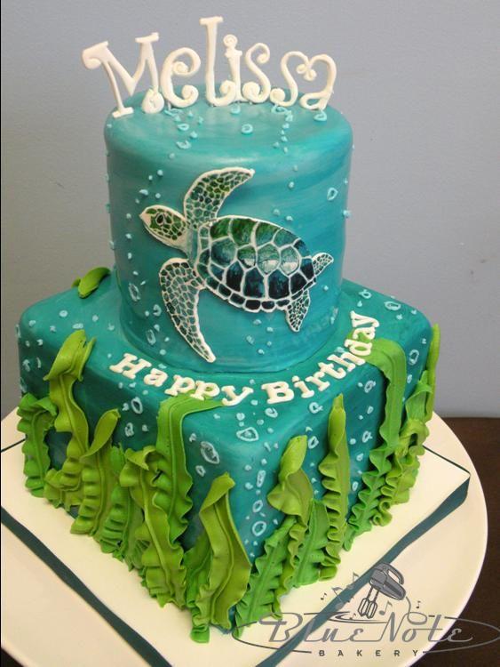 Adult Birthdays Blue Note Bakery 2 Turtle Birthday Cake