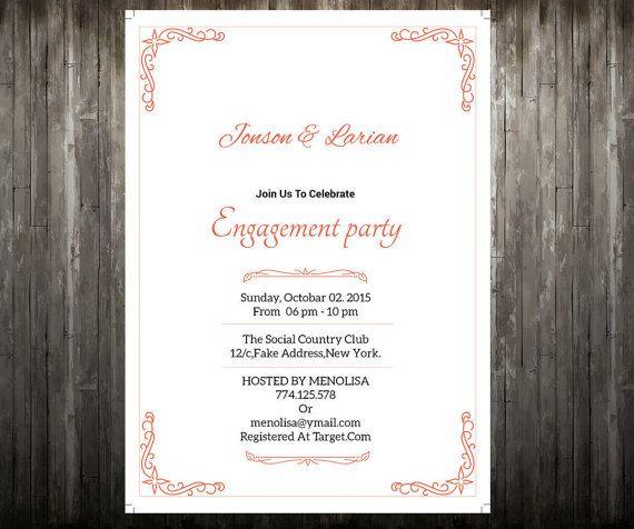 Editable Engagement Invitation Template By WeddingTemplateStock