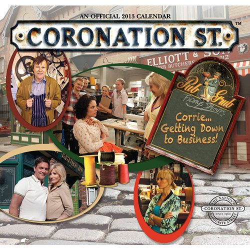 "Coronation St. Wall Calendar: This beloved television soap opera from Britain has been running since the 1960's, and shows no sign of slowing down. Enjoy a year with your favorite Corrie characters from ""the street"" in this calendar made in cooperation with ITV and © Granada Television Limited.  $13.99  http://calendars.com/Drama-TV/Coronation-St.-2013-Wall-Calendar/prod201300003230/?categoryId=cat00066=cat00066#"