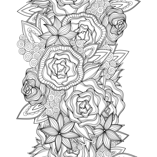 Advanced Flower Coloring Pages