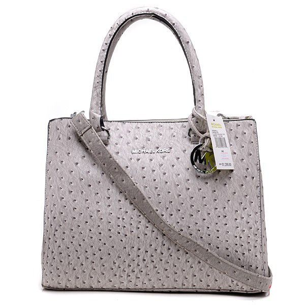 Want it. It can save 50% now on the site.Michael Kors Ostrich-Embossed Large  Grey Totes 3f0f74661c