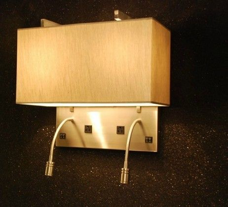 New Hotel Bedroom Brushed Nickel Wall Light With Outlet Switch Coart 2nd Guest Room Pinterest Bedrooms And Lighting