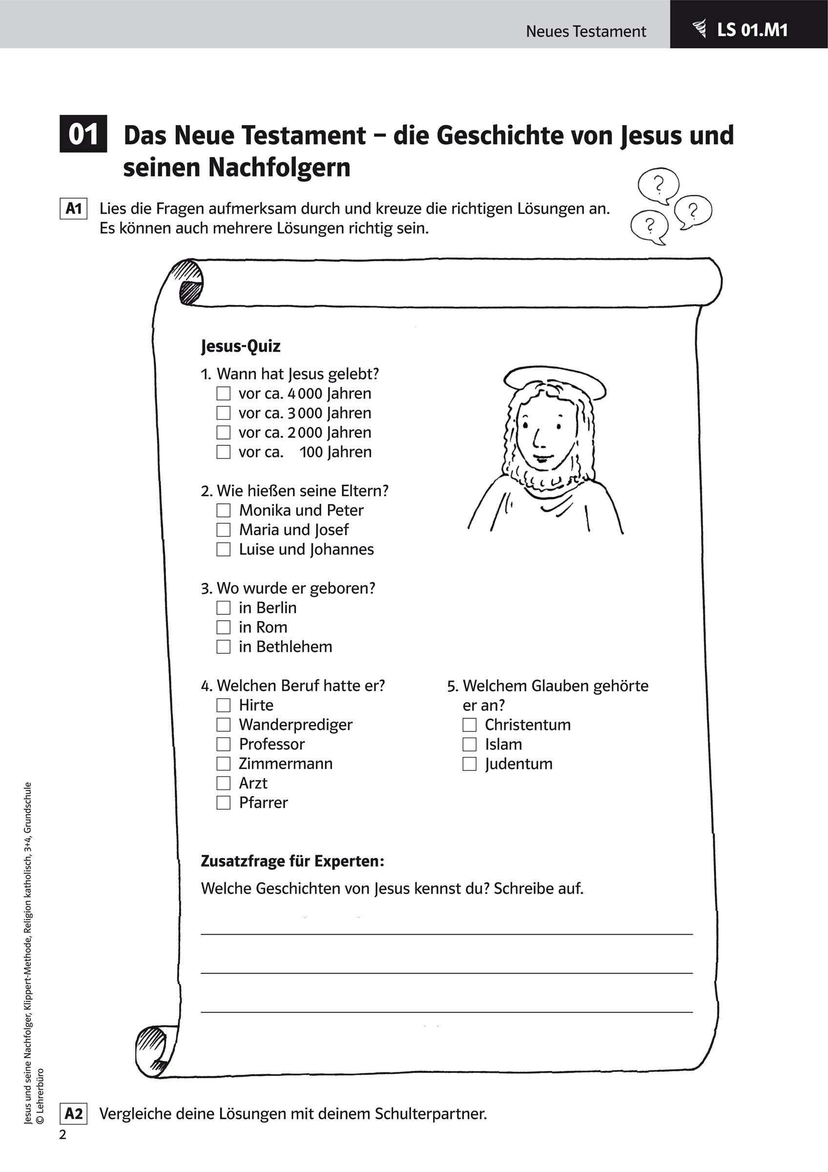 15 Arbeitsblatter Judentum Grundschule