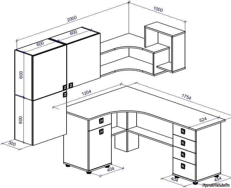 чертеж письменного стола с размерами Officecraft Room Ideas In